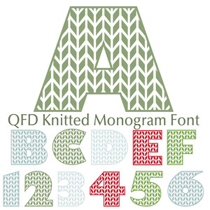 qfd knitted monogram font