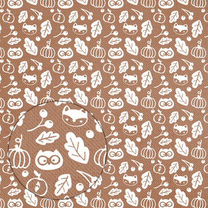 autumn pattern (white on brown)