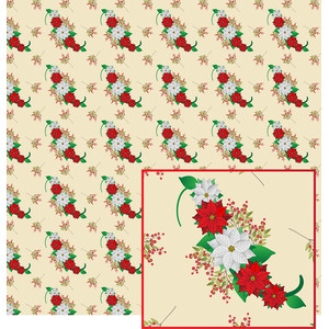 poinsettia flowers pattern