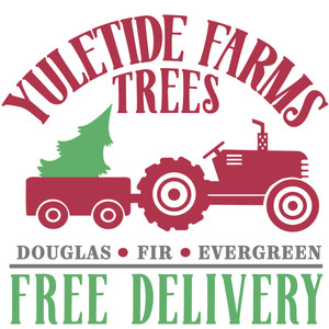 yuletide farms trees sign