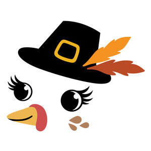 thanksgiving turkey in pilgrim hat
