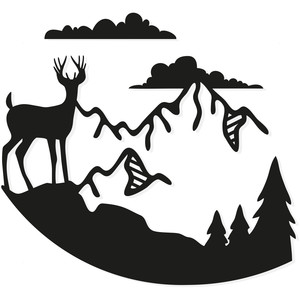 mountain cliff deer