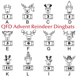 qfd reindeer advent monogram font