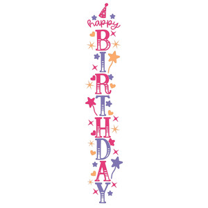 happy birthday vertical sign