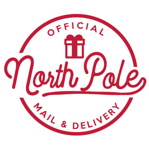 north pole mail & delivery label and tag