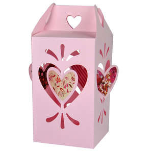 valentine twisted heart lantern