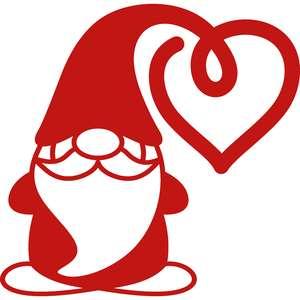 gnome heart hat