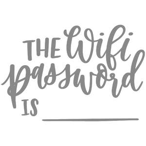 the wifi password is