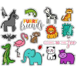 ml furry friends stickers
