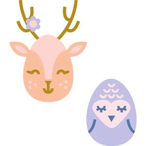 deer and bird eggs