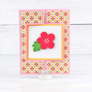 gatefold flip card square