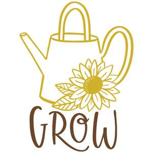 grow sunflower watering can