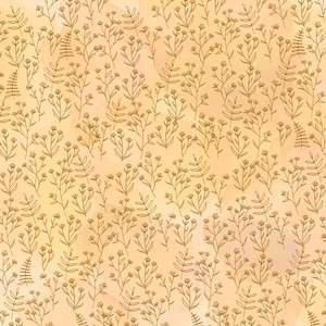 yellow orange floral pattern