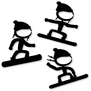 stick snowboard girl