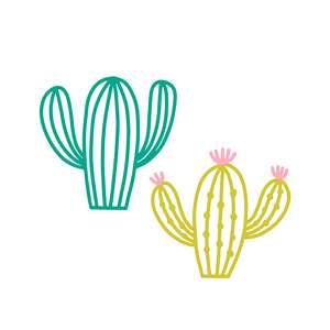 cactus outline set