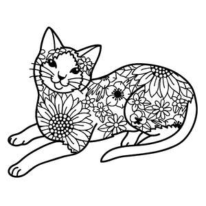 siamese cat flower mandala