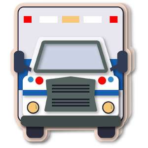 ambulance shaped card