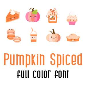pumpkin spiced full color font