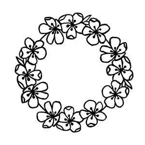 beautiful floral wreath garland flowers
