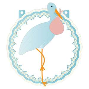 it's a boy banner piece - blue stork
