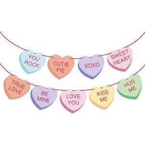 conversation hearts garland