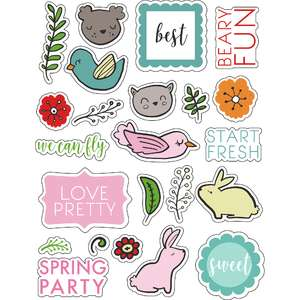 ml spring animals stickers