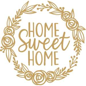 home sweet home flower wreath