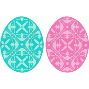filigree easter eggs