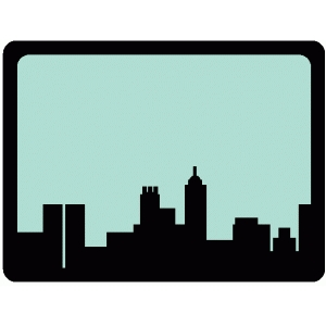 city skyline journaling card