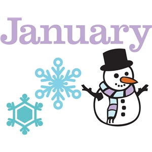 January embellishments or bulletin board art