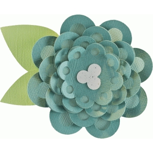 layered polka dot flower