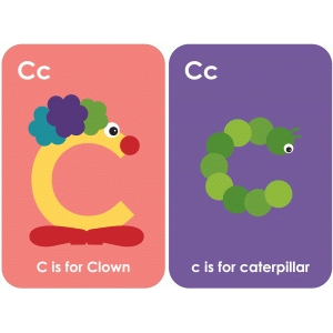 letter 'c' flashcard