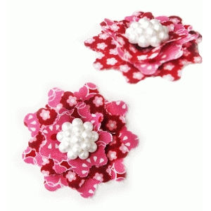lacy fabric flower