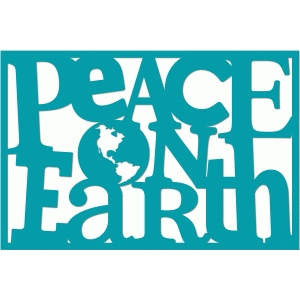 peace on earth 4x6 word art