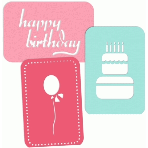 4x6 journaling birthday card set