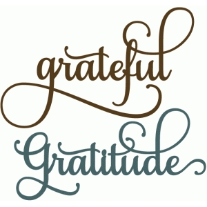 grateful gratitude - perfect flourish