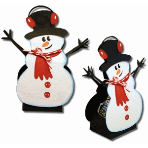 3d snowman sucker cover
