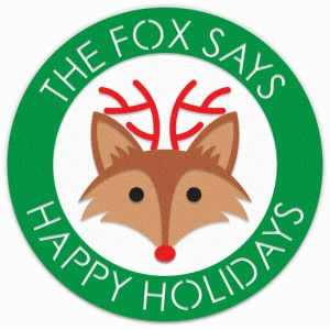 the fox says happy holidays