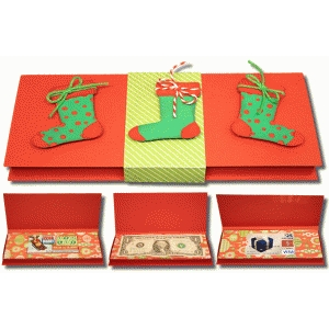 3d stocking gift box with inserts