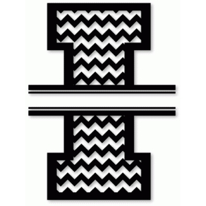 chevron split monogram i