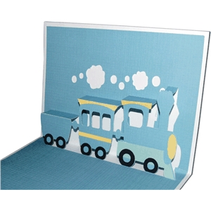 pop-up train card