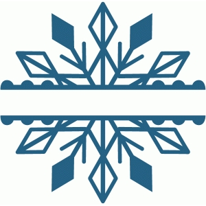 split snowflake design