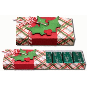 3d holly 8 count sliding candy box