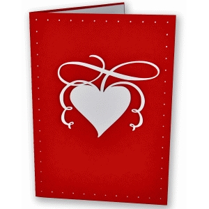 flourished heart card