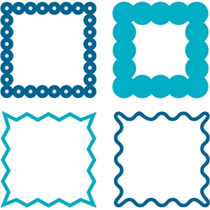 square frames-set of 4