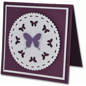 butterfly doily card