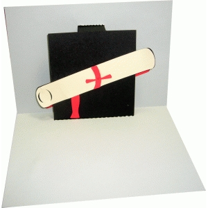 a6 pop-up mortarboard and diploma card