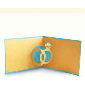 pop up card with rings