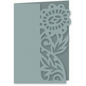 rich floral folded card