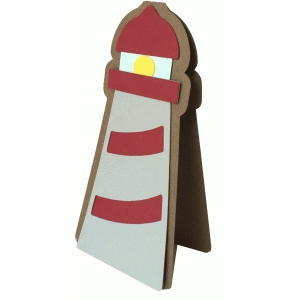 lighthouse shadow card